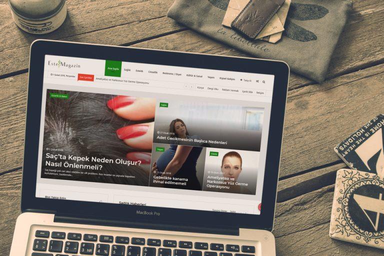 EsteMagazin Dergisi Web Tasarımı