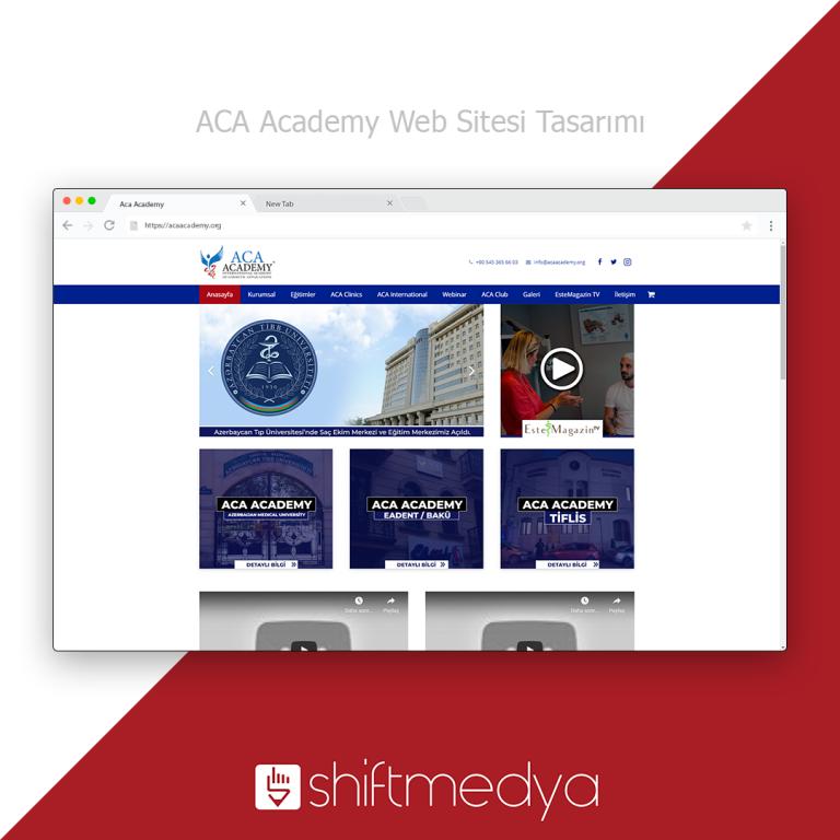 Akademi Web Sitesi Tasarımı