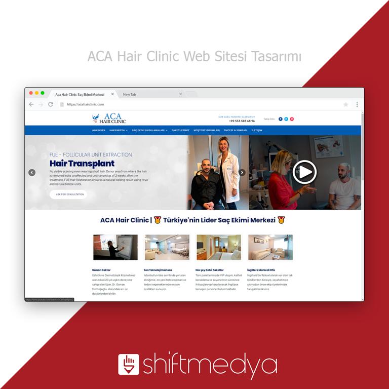 Saç Ekim Merkezi Web Sitesi Tasarımı