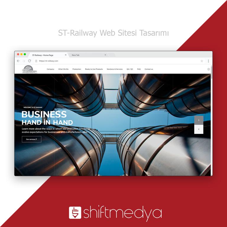 St-Railway Web Sitesi Tasarımı