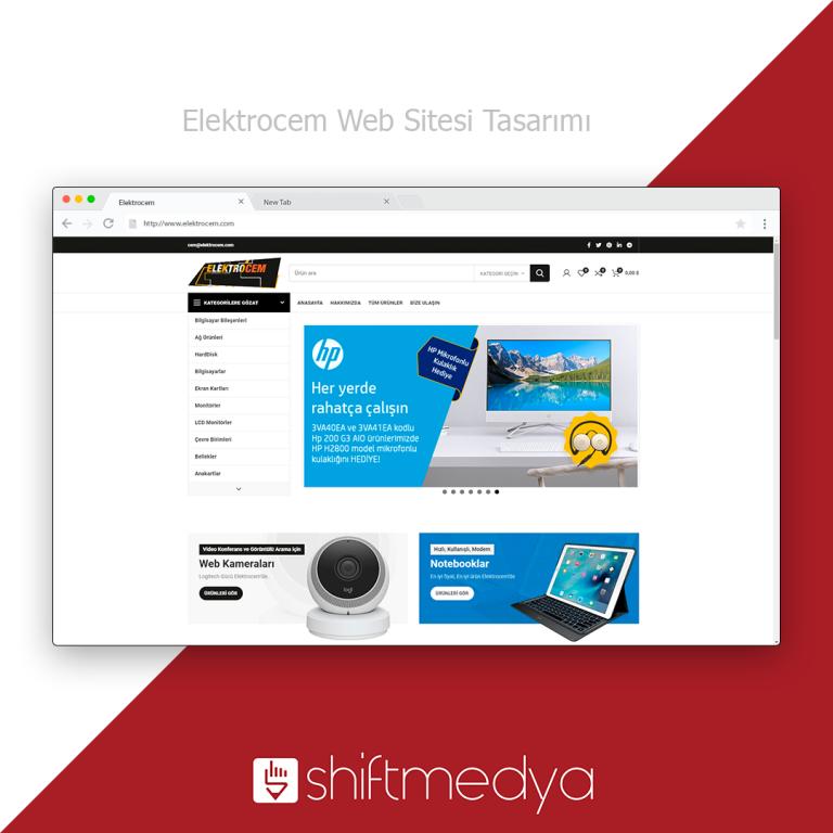 ElektroCem Web Sitesi Tasarımı