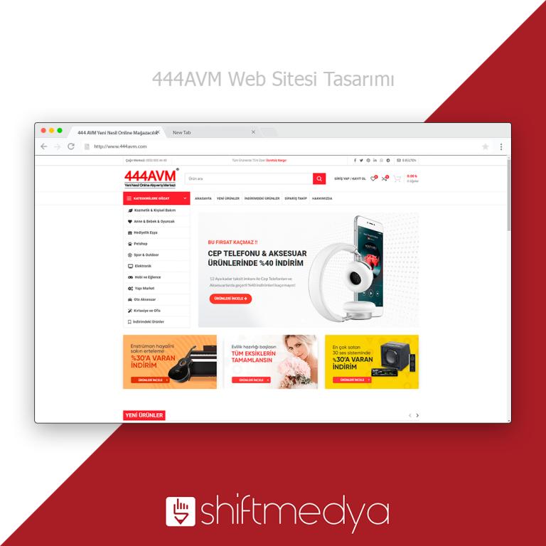 444 AVM – Web Sitesi Tasarımı