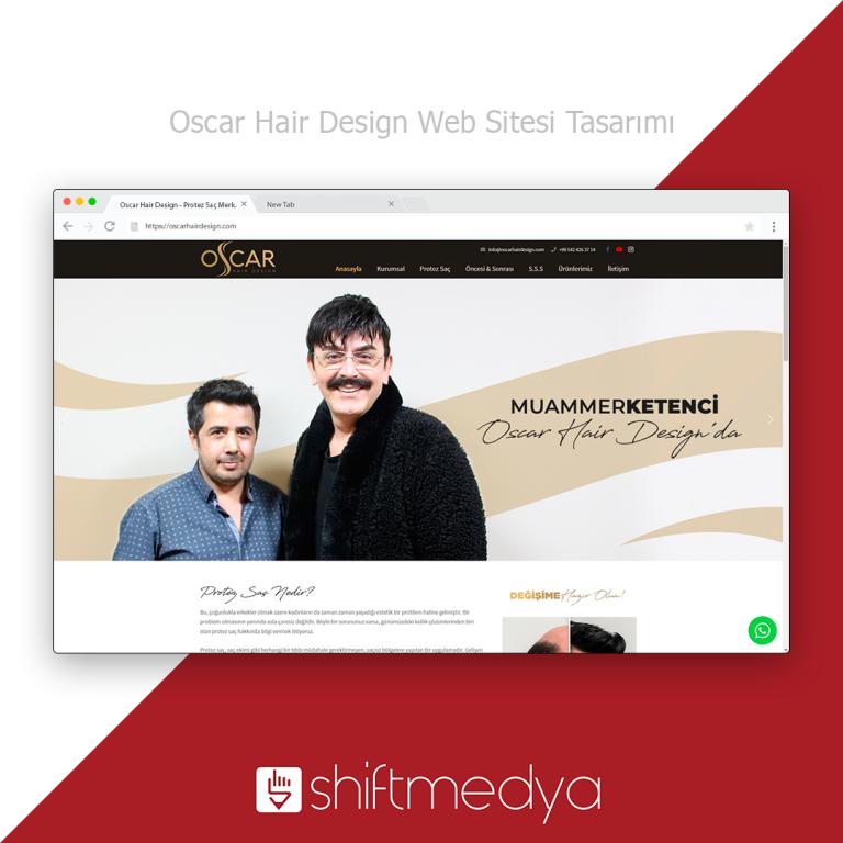 Oscar Hair Design – Protez Saç Merkezi Web Sitesi Tasarımı