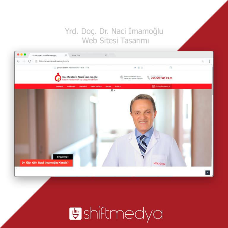 Yrd. Doç. Dr. Naci İmamoğlu Web Sitesi Tasarımı